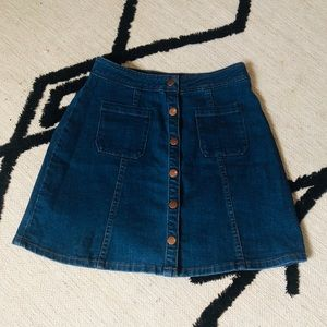 Alya Denim Skirt with Buttons - S
